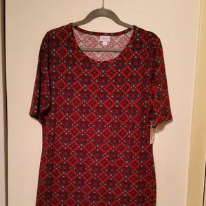 NWT LuLaRoe 2x short sleeve Julia